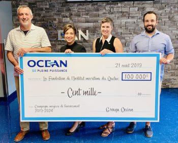 Un don de 100 000 $  pour le développement de l'industrie maritime